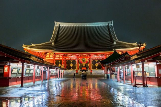 Image Photo for Silence of Sensoji Temple Pictures