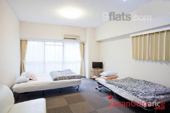 Image Photos of vacation rentals tokyo ikebukuro uptown apartment king bed and extra bed Pictures