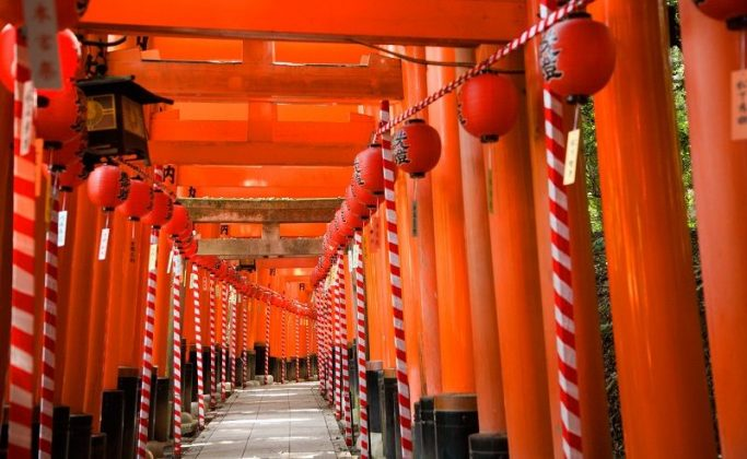 Image Pictures of which cities to visit in japan torii gate in kyoto Photos