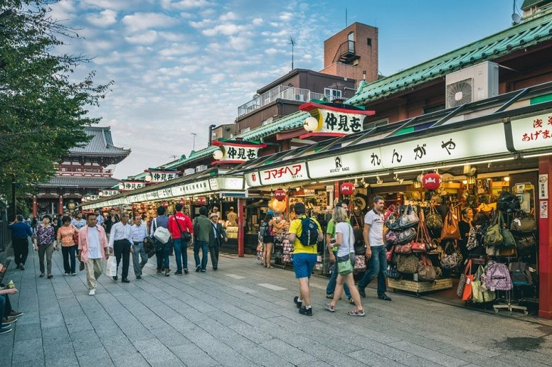 Image Picture for Sensoji Temple Facts - Nakamise Photos