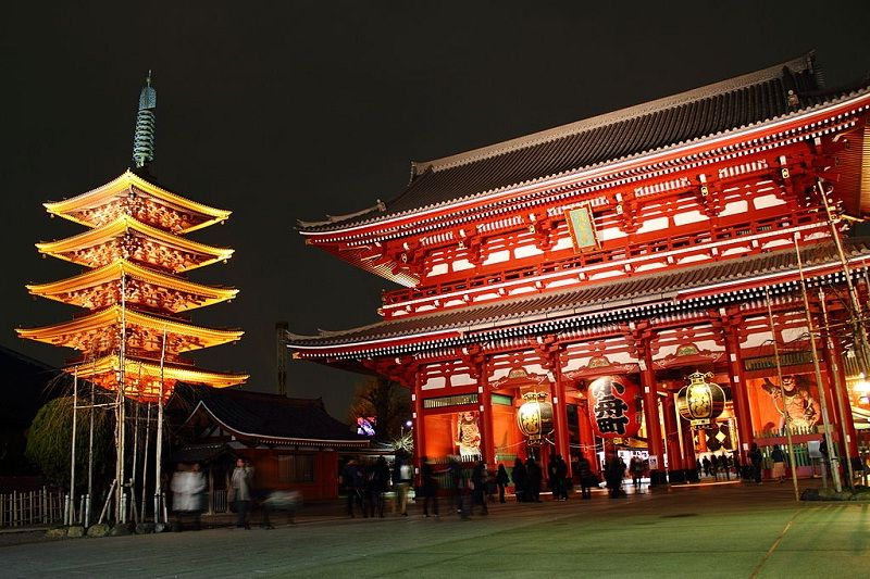 Image Photo For Sensoji Temple Facts - Night Look Pictures