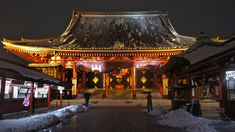 Image Photo for Sensoji Temple Facts at Night Pictures