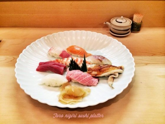 Image Pictures of Kyoto Sushi Menu - Toro nigiri Sushi platters Photos