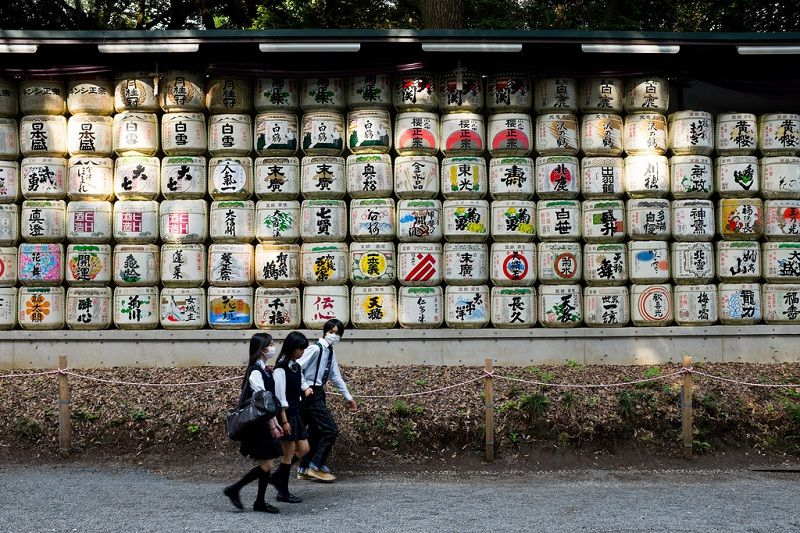 Image Pictures of What To See In Harajuku - Wall of Sake at Yoyogi Park Photo