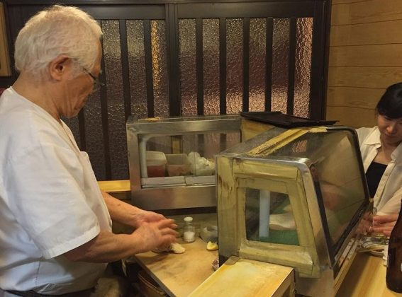 Image Photo of best places to eat osaka sushi processing make sushi at koyoshi sushi Pictures