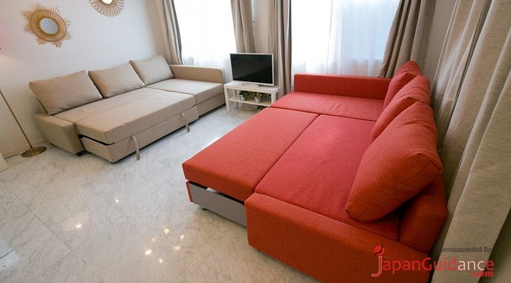 Image Photo of Tokyo Vacation Rentals Shibuya - Shinjuku Area - Multifunction Bed and Sofa Pictures