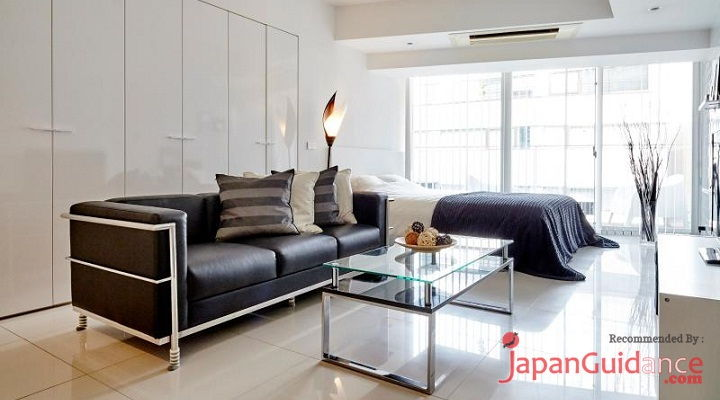 Image Photo of Tokyo Vacation Rentals Shibuya - Stylish and Modern Room Shibuya - Guest Sofa Pictures