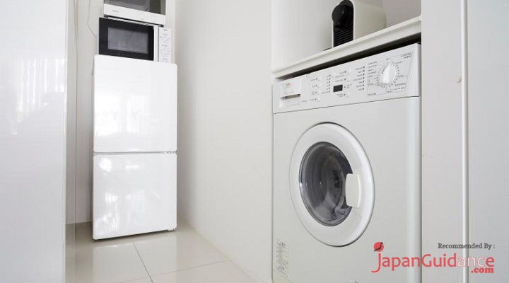 Image Photo of Tokyo Vacation Rentals Shibuya - Stylish and Modern Room Shibuya - Washing Machine Pictures
